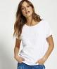 Superdry T-shirt Boyfriend Vintage avec logo estampé  Blanc