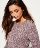 Superdry Croyde Twist Cable Crew Jumper Purple