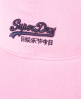 Superdry Neon Orange Label Cap Pink