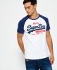 Superdry Camiseta con mangas raglán Vintage Logo  Blanco