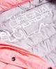 Superdry Fuji修身双重拉链连帽夹克 粉红色