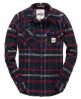 Superdry Milled Flannel Shirt Navy