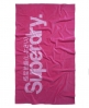 Superdry Logo Beach Towel Pink