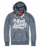 Superdry Real Brand Hoodie Navy