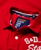 Superdry State Pique Polo Shirt Red