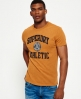 Superdry T-Shirt mit Applikation Gelb