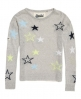 Superdry Star Gaze Instarsia Knit Jumper Light Grey