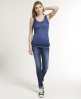 Superdry Burnout Tank Top Navy