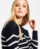 Superdry Marine Stripe Slouch Knit Jumper  Navy