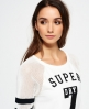 Superdry College Tribe Sweatkleid Weiß