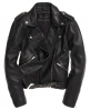 Superdry Bella Leather Biker Jacket Black