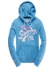Superdry Lipstick stroke hoodie Blue