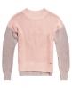 Superdry Colour Block Rib Knit Jumper Pink
