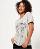Superdry Wild West Slim Boyfriend T-Shirt  Light Grey