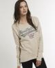 Superdry Lurex T-shirt Cream