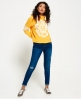 Superdry SD College Crop Hoodie Yellow