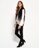 Superdry Boho Ombre Fur Gilet  Grey