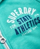 Superdry Sweat zippé à capuche Track & Field Vert