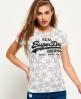 Superdry T-shirt à imprimé étoiles Vintage Logo Gris Clair