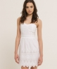 Superdry Broderie Dress White