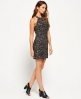 Superdry Sequin Luxe Body Con Dress Silver
