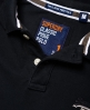 Superdry Classic Long Sleeve Pique Polo Shirt Black