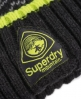 Superdry Arete Fairisle Beanie Black