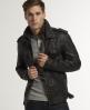 Superdry Ryan Leather Jacket Brown