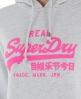 Superdry Vintage Entry Hoodie Light Grey