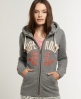Superdry Appliqué Zip Hoodie Grey