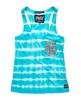 Superdry Tie Dye Sequin Pocket Vest Top Blue
