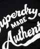 Superdry T-shirt noué à l'avant Made Authentic  Noir