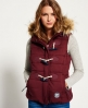 Superdry Marl Toggle Puffle Gilet Red