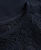 Superdry Lace Skater Dress Navy