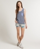 Superdry Ringer Pocket Tank Top Navy