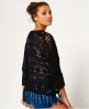 Superdry Willow Crochet Kimono Black