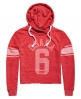 Superdry Osaka Sport Cropped Marl Hoodie Red