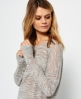 Superdry Nevada Springs Slub Knit Top Light Grey