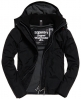 Superdry Pop Zip Hooded Arctic Windcheater Jacket Black