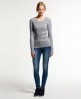 Superdry Croyde Twist Cable Crew Neck Jumper Grey