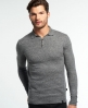 Superdry Pull polo en maille Orange Label Gris