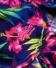 Superdry Short de surf Painted Hibiscus Bleu Marine