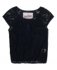 Superdry Brushed Lace Top Navy