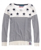 Superdry Breton Star Crew Cream
