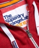 Superdry Orange Label Zip Hoodie Red