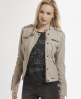 Superdry Shrunken Biker Jacket Light Grey