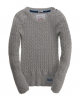 Superdry Croyde Cable Crew Light Grey