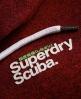 Superdry Scuba Zip Hoodie Red