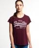 Superdry Vintage Logo Super Sewn T-Shirt Rot