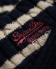 Superdry Croyde Cable Stripe Crew Navy